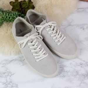Seavees Light Gray Suede Racquet Club Sneakers